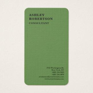 Minimalist elegante profesional moderno verde de tarjeta de negocios