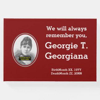 Minimalist, Guestbook triste de las condolencias Libro De Visitas