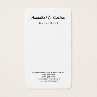 Minimalist llano vertical de la escritura del tarjeta de visita