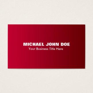Minimalist moderno de la pendiente roja simple tarjeta de negocios