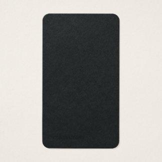 Minimalist moderno de moda llano negro superior tarjeta de visita