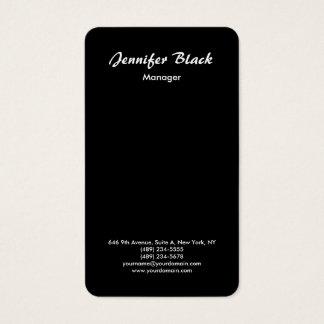 Minimalist negro simple de la escritura de la tarjeta de visita