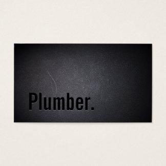 Minimalist oscuro elegante del fontanero tarjeta de negocios