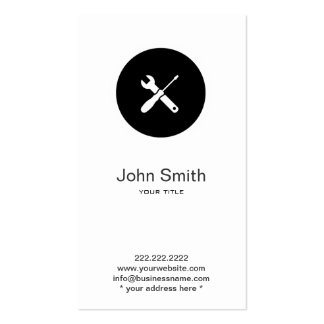 Minimalist profesional del fontanero de la manitas tarjetas de visita