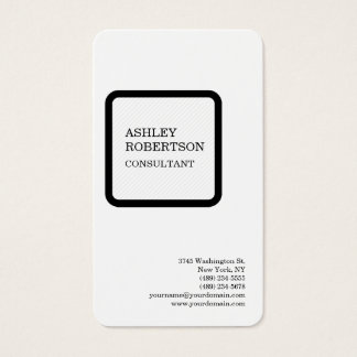 Minimalist profesional moderno de lujo de seda tarjeta de visita