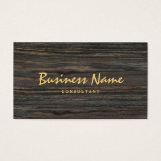 Minimalist simple de madera oscuro profesional tarjeta de negocios