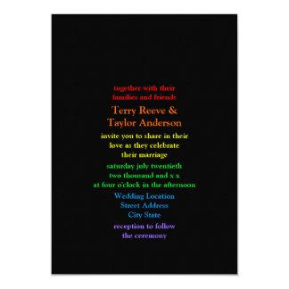 Minimalistic Arco iris-Coloreó el boda de la Invitación 12,7 X 17,8 Cm