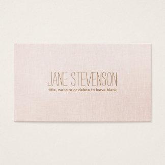 Minimalistic es mirada de lino rosa clara dulce tarjeta de visita