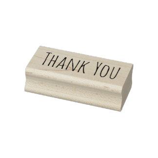 Mínimo gracias sello de goma