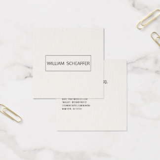 Mínimo moderno profesional del abogado de la tarjeta de visita cuadrada