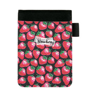 Miniportafolios Fresa roja en fondo negro