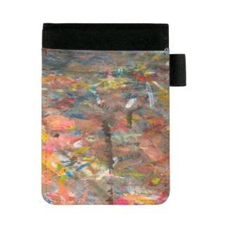 Miniportafolios Lenguado de la pintura del arte abstracto colorido