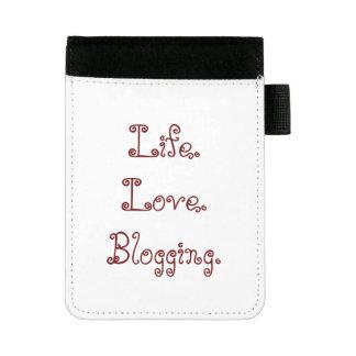 Miniportafolios Vida. Amor. El Blogging. Mini Padfolio