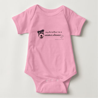 MiniSchnauzerBrother Body Para Bebé