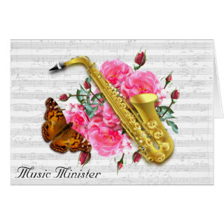 Ministro nota de la música del cristiano del tarjeta de felicitación