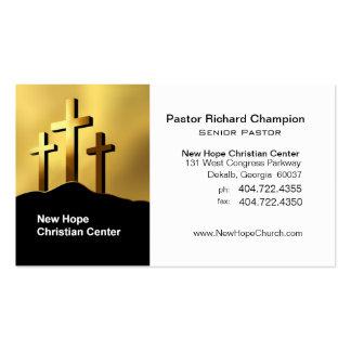 Ministro pastor cristianos del símbolo de las cruc tarjeta de visita