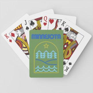 Minnesota apenas las líneas cubierta del barajas de cartas
