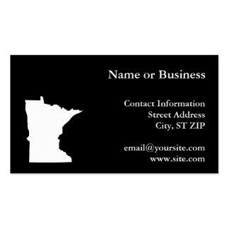 Minnesota en blanco y negro plantilla de tarjeta de visita