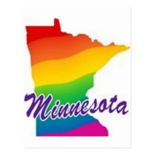 Minnesota gay tarjeta postal