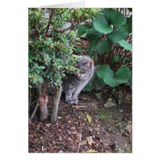 Minnie en el jardín tarjeta