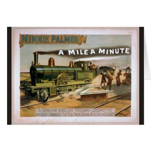 "Minnie Palmer, ""una milla"" un teatro minucioso del Felicitacion"