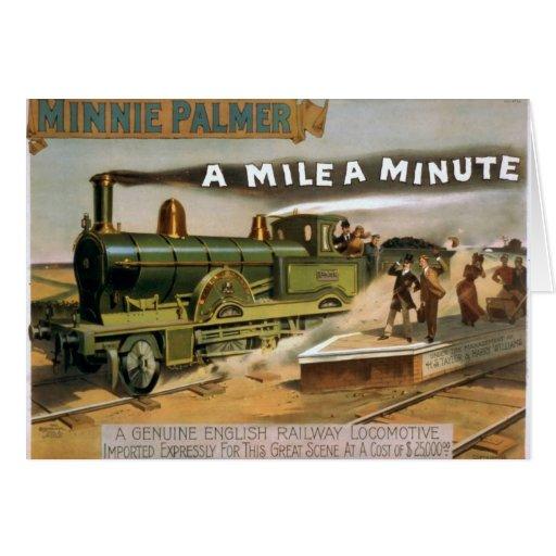 "Minnie Palmer, ""una milla"" un teatro minucioso del Tarjetas"