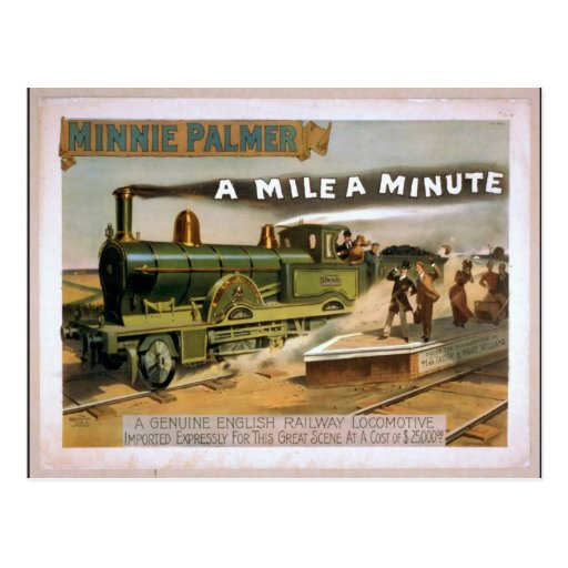 "Minnie Palmer, ""una milla"" un teatro minucioso del Tarjetas Postales"