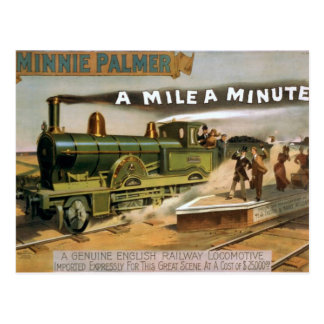 Minnie Palmer una milla un teatro minucioso del Postal