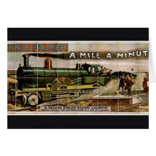 "Minnie Palmer, ""una milla"" un teatro retro minucio Tarjetón"