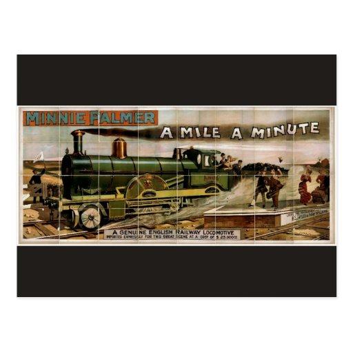 """Minnie Palmer, """"una milla"""" un teatro retro minucio Postal"""