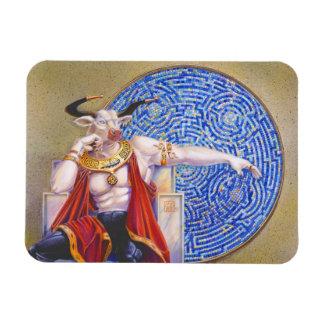 Minotaur con el mosaico iman