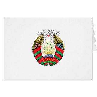 Minsk, Bielorrusia Tarjeta De Felicitación