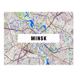 ♥ Minsk de las POSTALES del MAPA