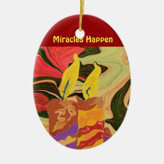 mira al trasluz el ornamento del arte abstracto adorno navideño ovalado de cerámica