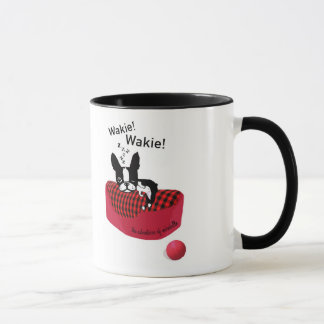 ¡Mirabel el terrier Wakie de Boston! Taza de Wakie