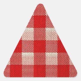 Mirada a cuadros de la arpillera del modelo de la pegatina triangular
