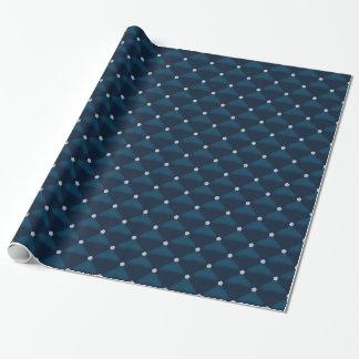 Mirada acolchada azul con los diamantes papel de regalo