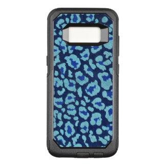 Mirada azul de Ultrasuede de los puntos del Funda Otterbox Commuter Para Samsung Galaxy S8