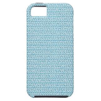 Mirada azul en colores pastel de la malla de la funda para iPhone SE/5/5s