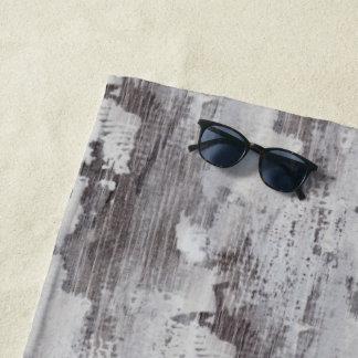 Mirada blanqueada Maui apenada del grano de madera Toalla De Playa