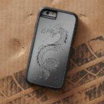Mirada cepillada dragón del metal del vintage funda de iPhone 6 tough xtreme