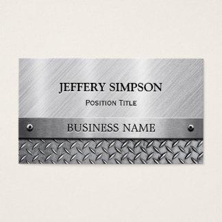 Mirada cepillada moderna del metal - completamente tarjeta de negocios
