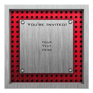Mirada cepillada Paintball del metal Invitación 13,3 Cm X 13,3cm