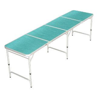 Mirada cepillada turquesa del metal mesa de pong