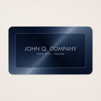 Mirada de acero azul de las esquinas redondeadas tarjeta de visita