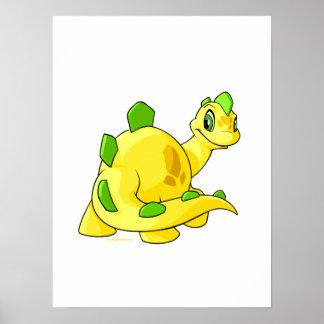 Mirada de Chomby amarillo Póster