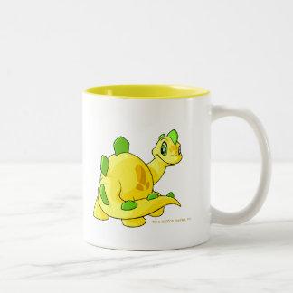 Mirada de Chomby amarillo Taza De Dos Tonos