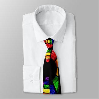 mirada de cristal de la mancha brillante del color corbata personalizada