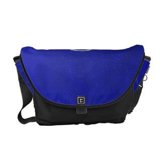 Mirada de cuero azul del cáncer de la muestra del bolsa de mensajeria