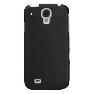 Mirada de cuero negra iPhone3G Funda Para Galaxy S4